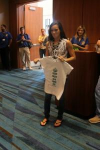 GIStees.com GIS t-shirt raffle winner South Florida GIS Expo (presented by Palm Beach Countywide GIS Forum)