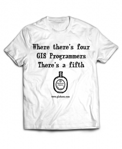 A Fifth GIS T-Shirt | GIStees.com - Tees Spatially For You