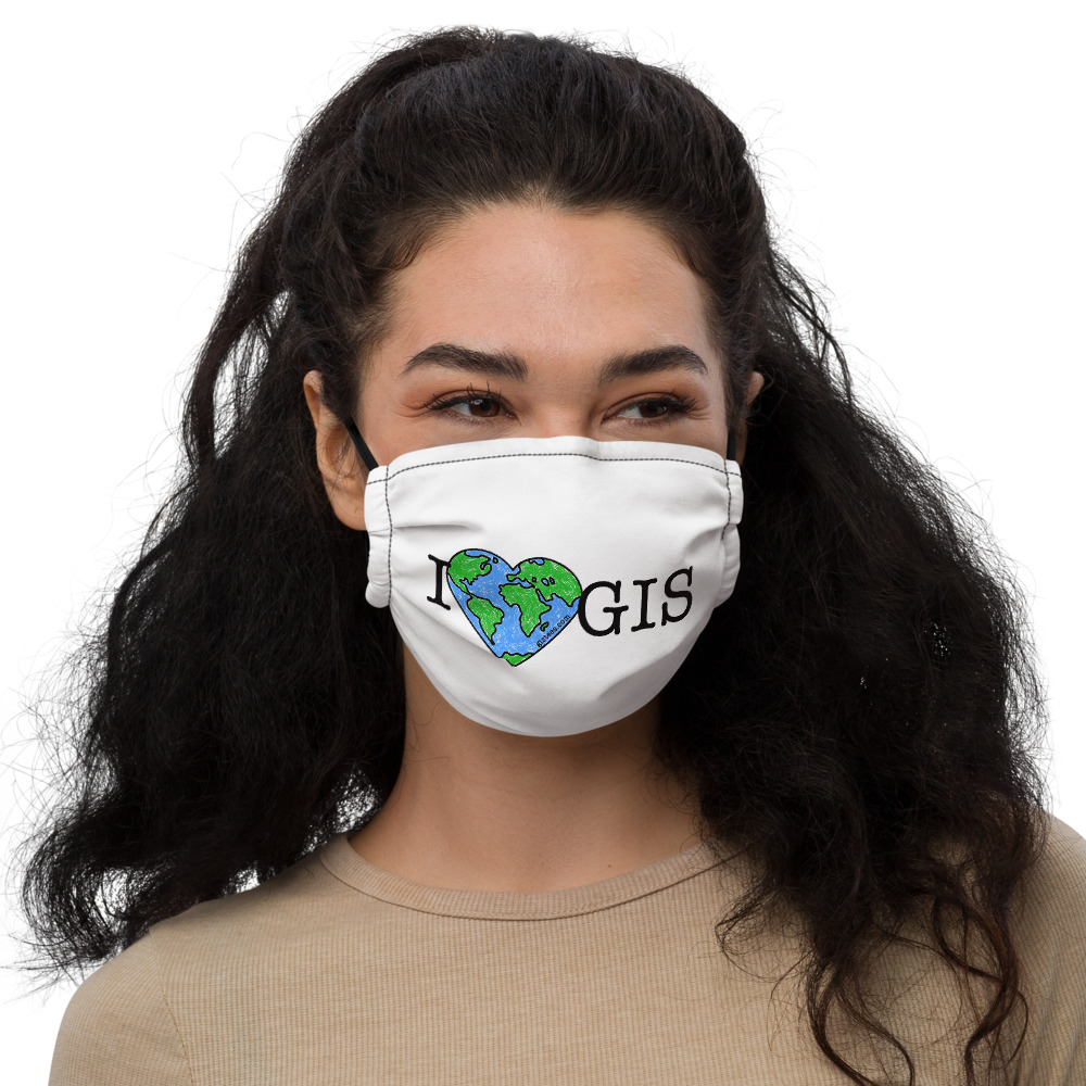 I Love GIS Facemask - GISTees.com