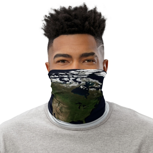 Blue Marble Americas Neck Gaiter - GIStees.com