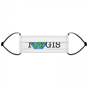 I Love GIS Facemask - GISTees.com