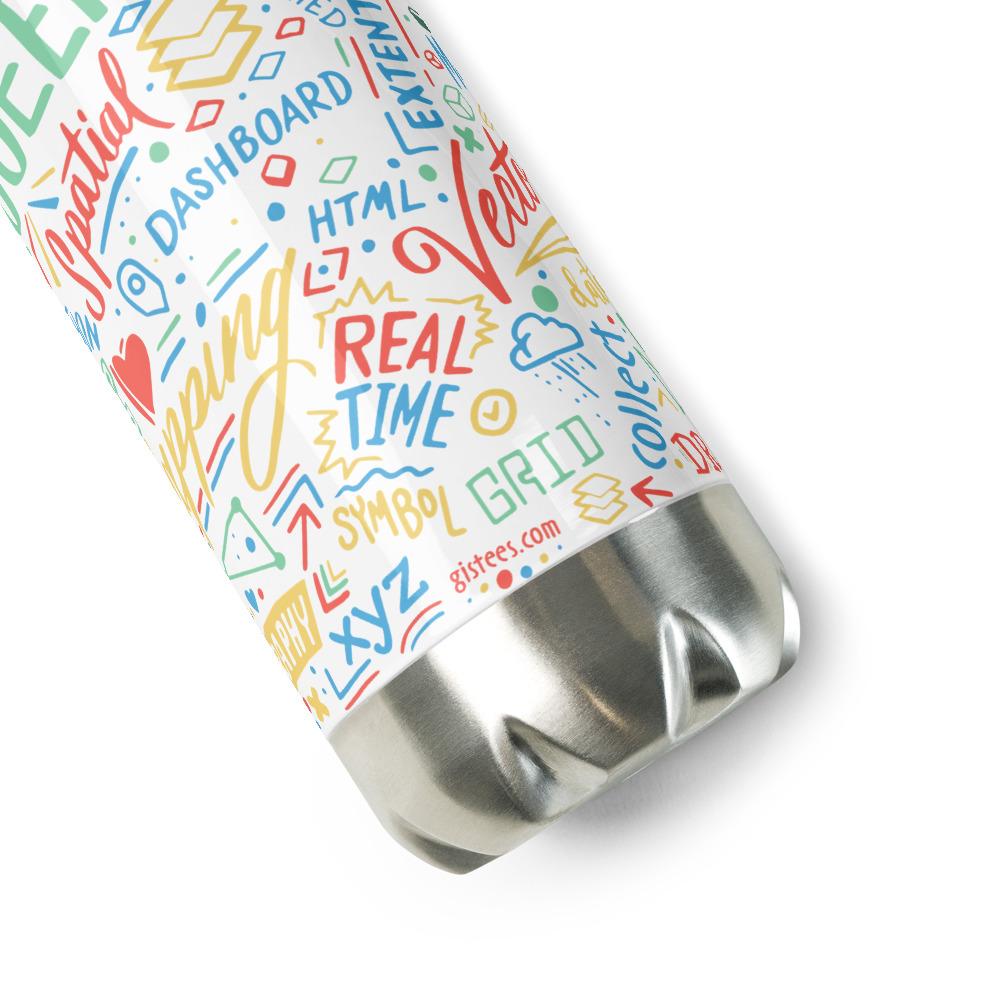 Geospatialology Stainless Steel Water Bottle